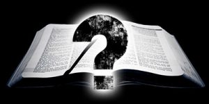 Bible Question Mark